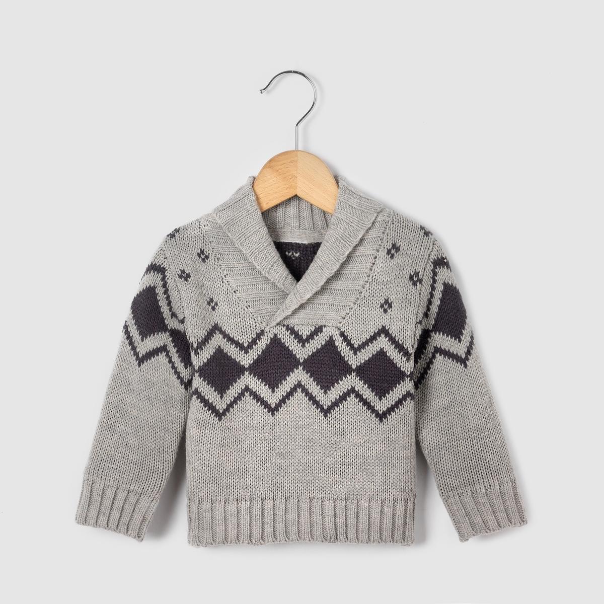 Пуловер жаккардовый, возраст 1 мес. - 3 года