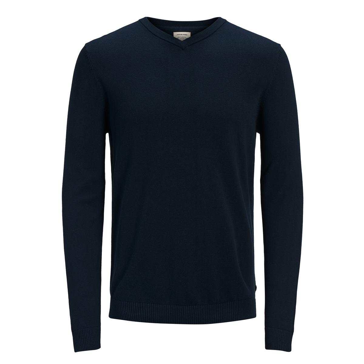 Пуловер La Redoute С V-образным вырезом из тонкого трикотажа L синий пуловер la redoute с v образным вырезом из тонкого витого трикотажа m каштановый