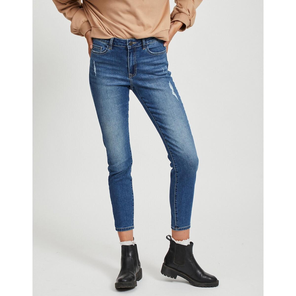 Фото - Джинсы-скинни LaRedoute Высокий пояс XS синий джинсы laredoute скинни длина 30 s черный