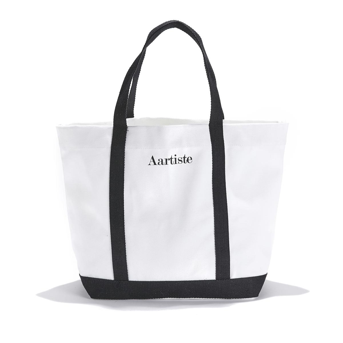 Сумка-шоппер среднего размера из хлопка с надписьюAartiste
