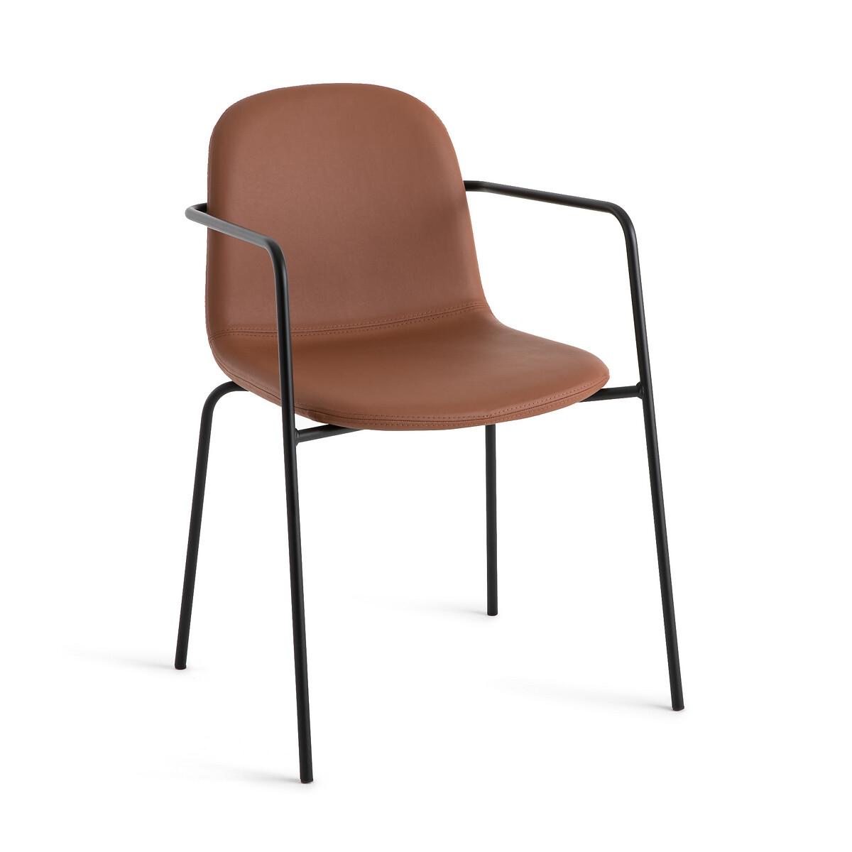 Кресло LaRedoute Из искусственной кожи Tibby единый размер каштановый
