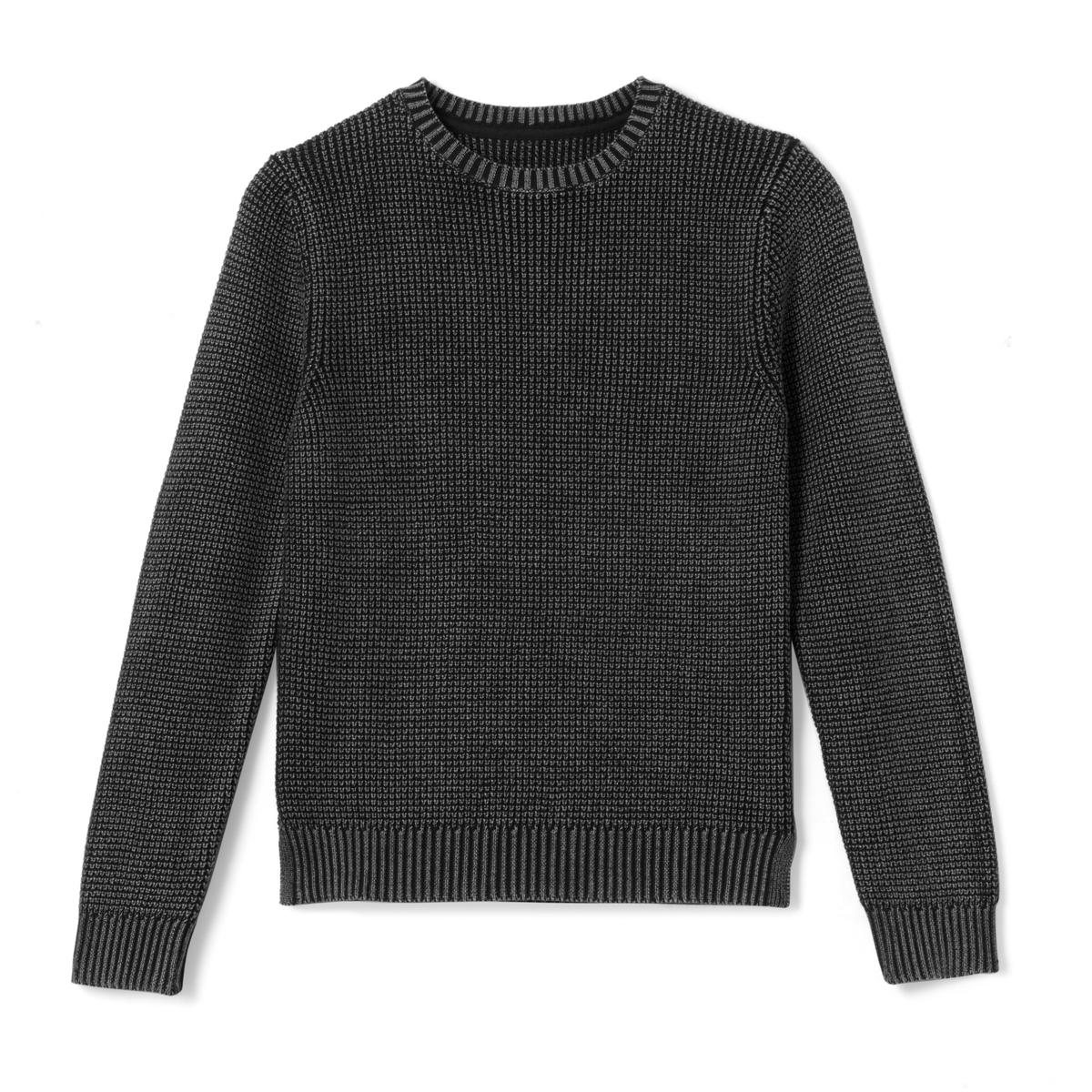 Пуловер с круглым вырезом из тонкого трикотажа 10-16 лет