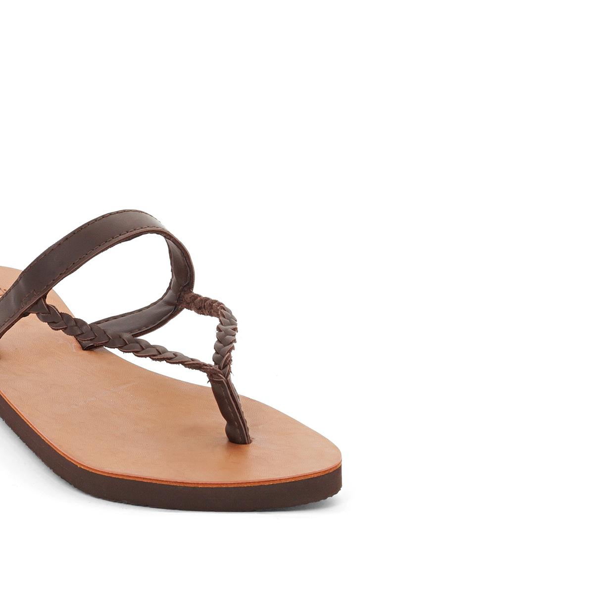 Босоножки LivyВерх/Голенище : синтетика     Стелька : синтетика     Подошва : каучук     Форма каблука : плоский каблук     Мысок : открытый мысок     Застежка : ремешок/пряжка<br><br>Цвет: темно-бежевый