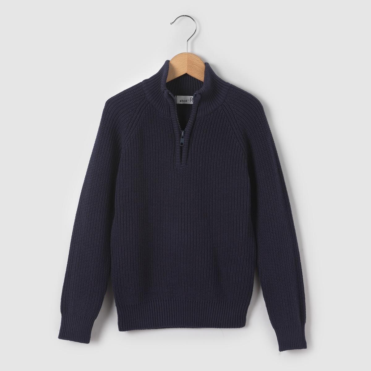 Пуловер с высоким воротником, 3-12 лет