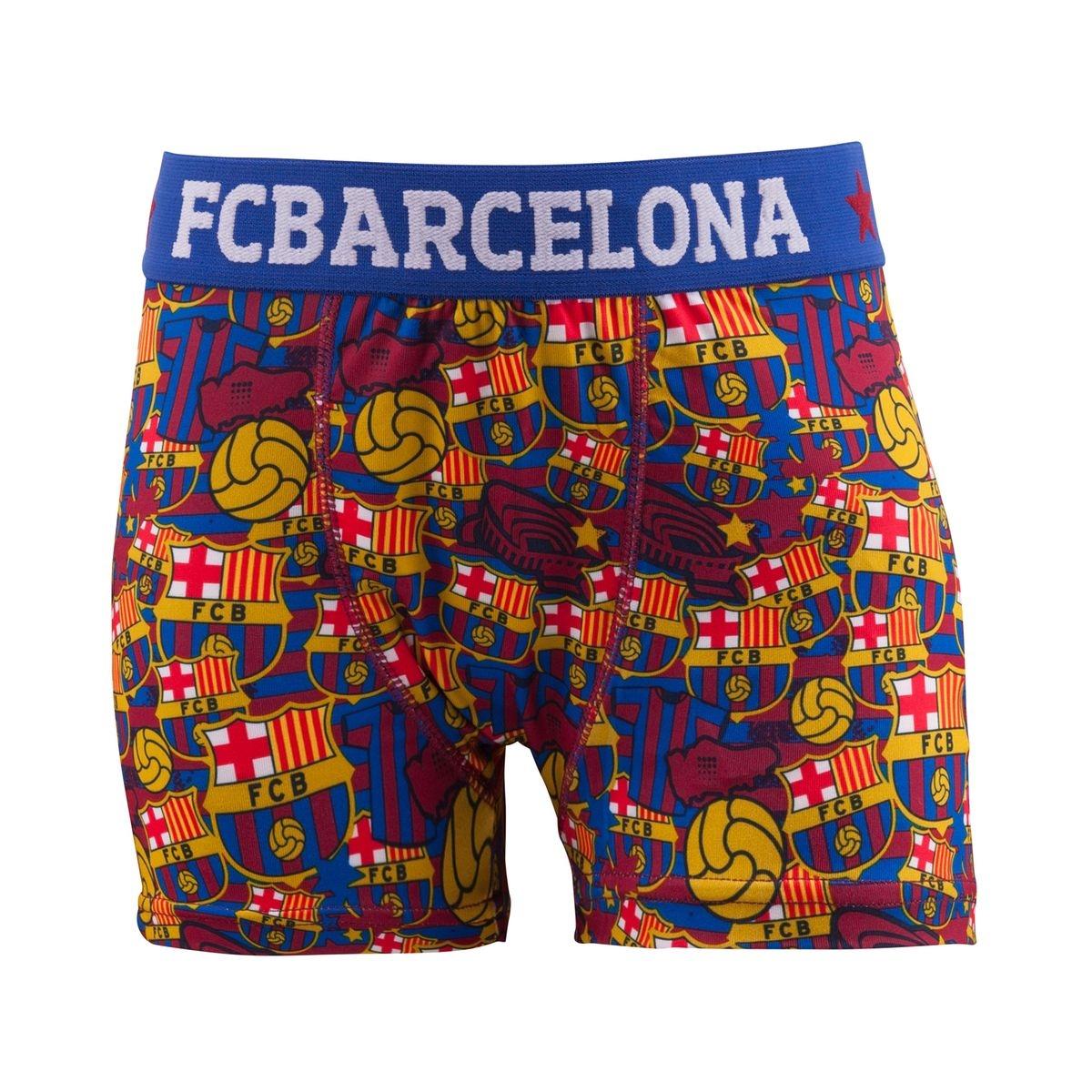 Boxer FC Barcelone All Over Bleu/Rouge Junior