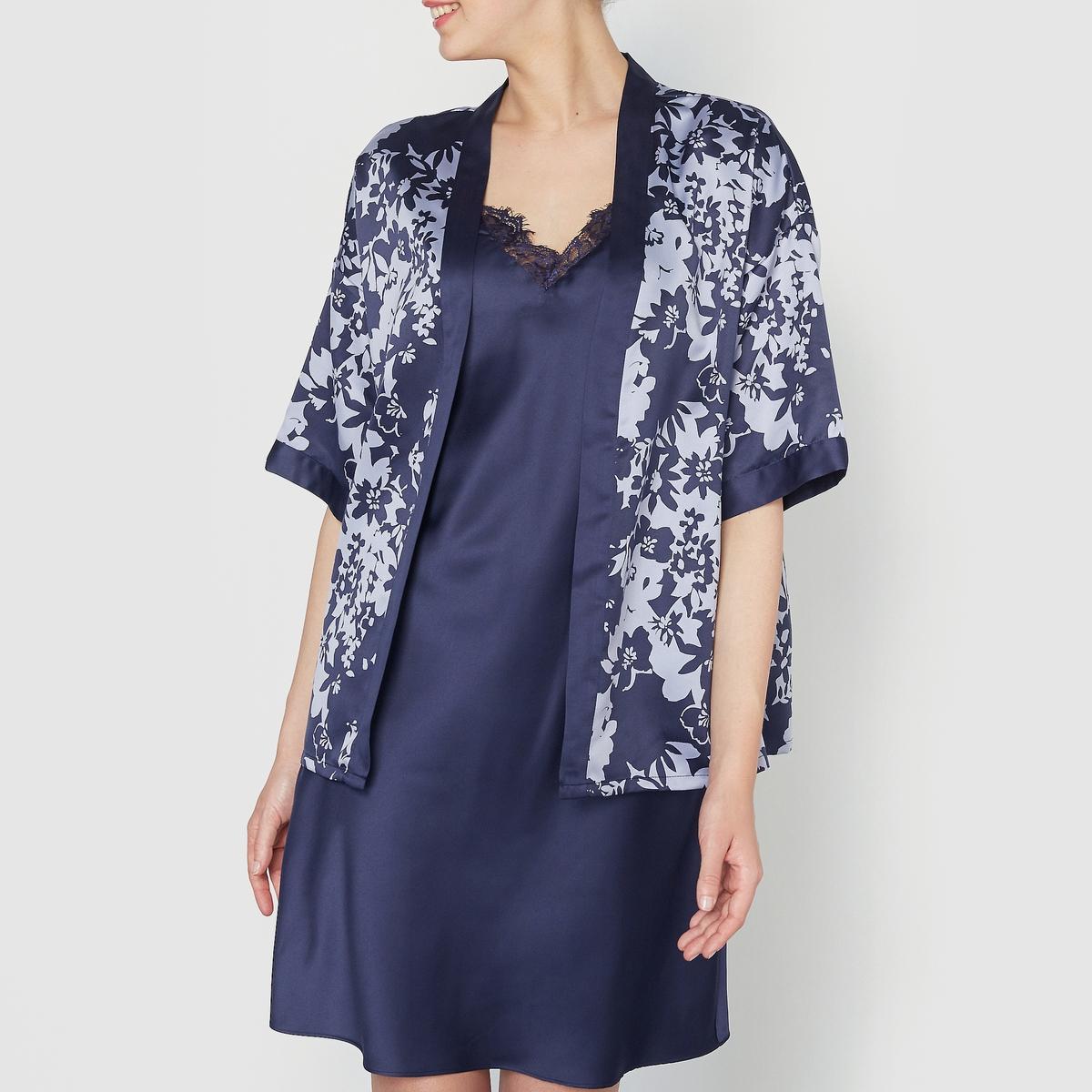 Комплект: ночная сорочка и кимоно