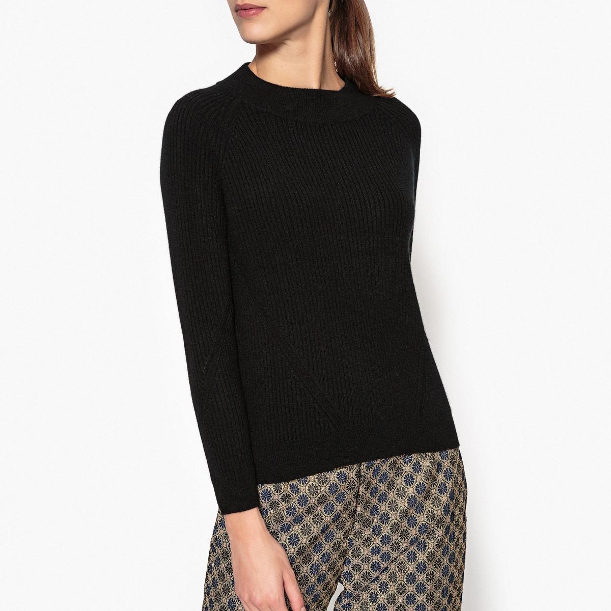 Пуловер из кашемира с воротником-стойкой из тонкого трикотажа NATH