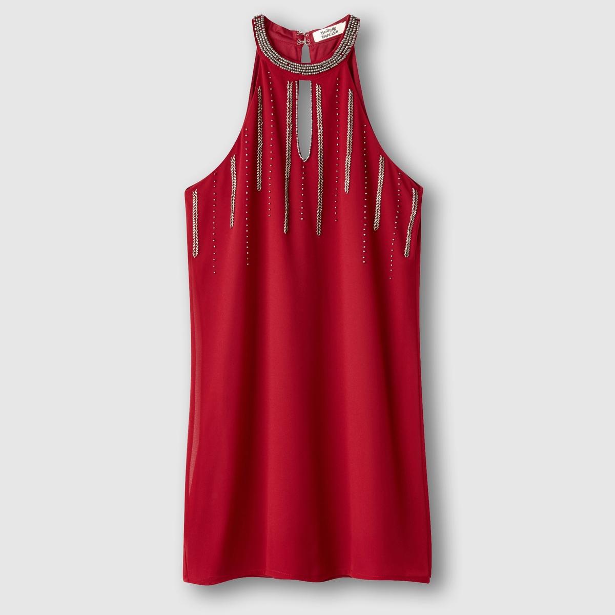 Платье с американской проймойСостав и описаниеМарка: MOLLY BRACKEN.Материалы:платье из 95% полиэстера, 5% эластана, подкладка из 100% полиэстера.УходСтирать при 30°C в деликатном режиме.Стирать с вещами подобных цветов. Машинная сушка запрещена.<br><br>Цвет: красный<br>Размер: M