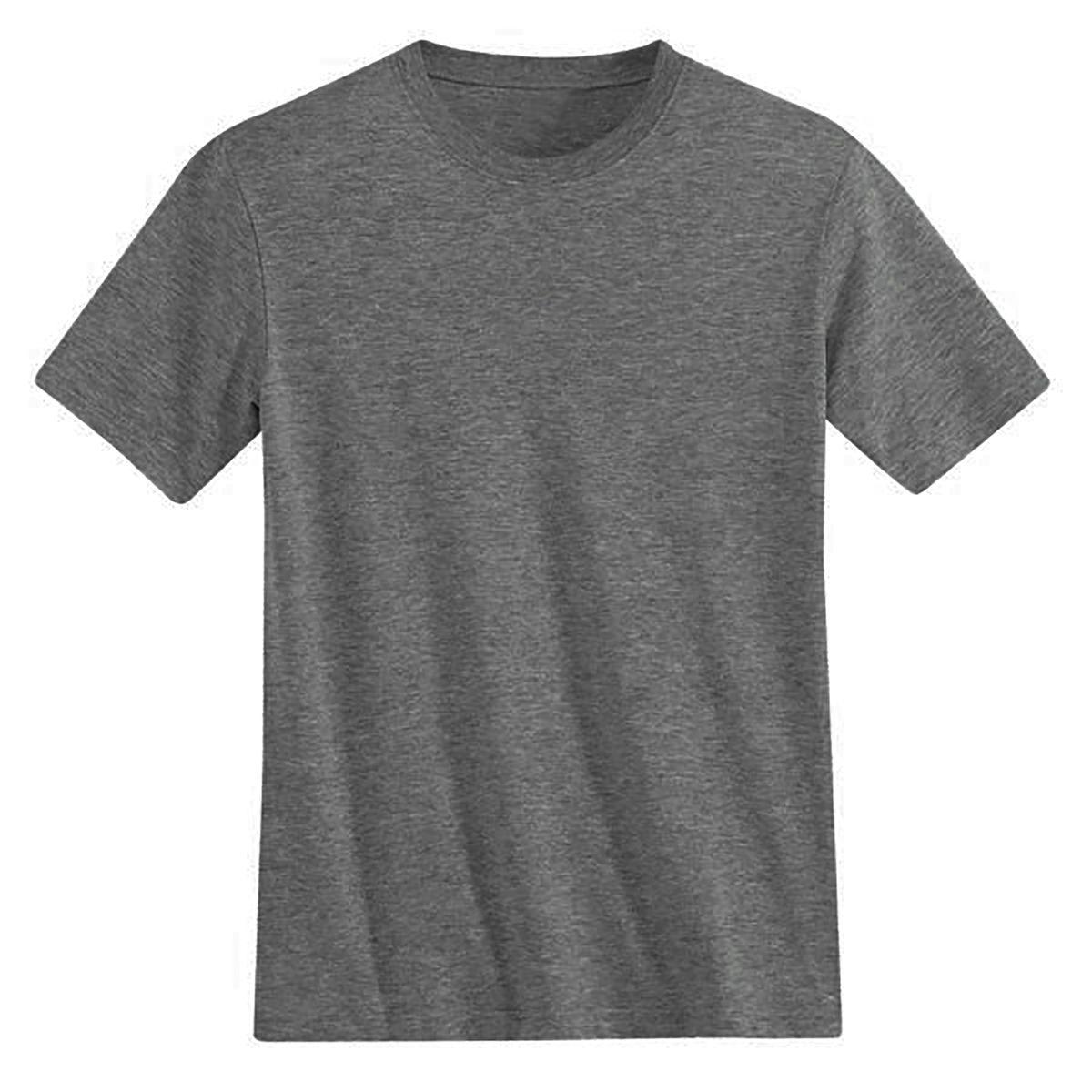 T-shirt col rond et manches courtes, pur coton