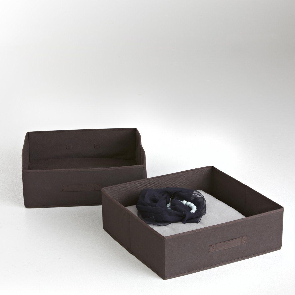 2 ящика складныхКрасивое и оригинальное решением для хранения вещей. Складной ящик из нетканого материала. Картонная основа. Размер: 45 х 15 х 45 см.<br><br>Цвет: фиолетовый/ сливовый,шоколадно-каштановый