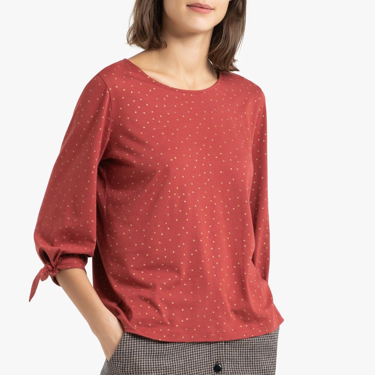 Блузка La Redoute С круглым вырезом и рукавами IMA 2(M) оранжевый цена