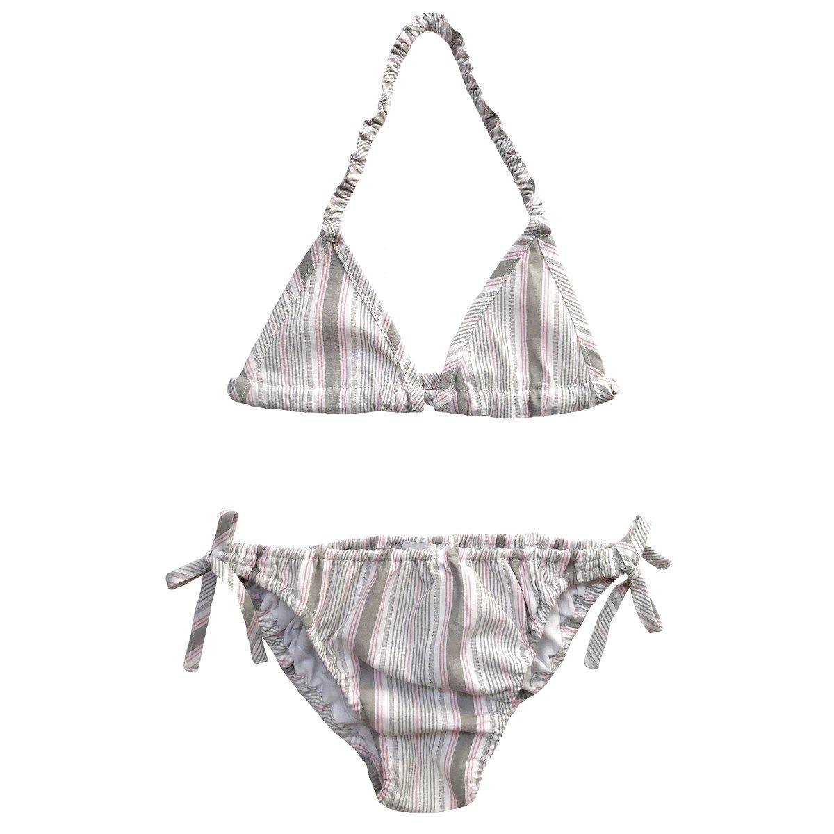 Bikini deux pièces en coton à rayures 6 ans CLOTILDE