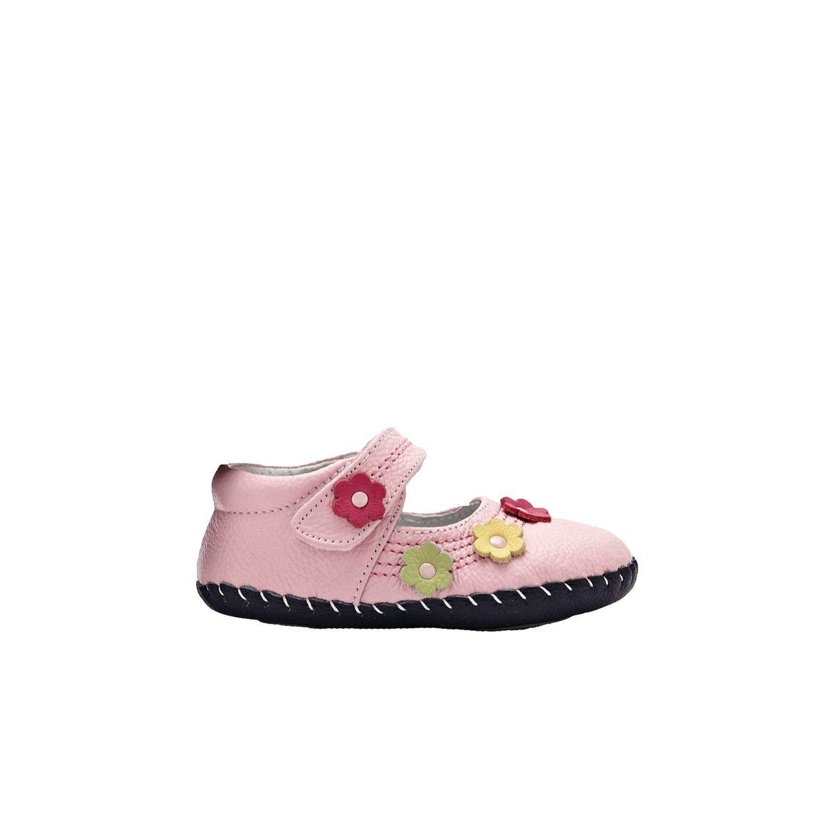 Chaussures premiers pas cuir souple Babies petites fleurs