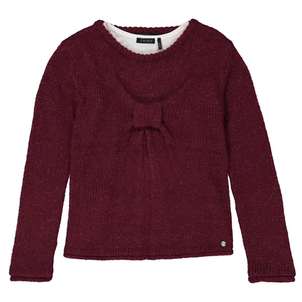 Пуловер с эффектом 2 в 1, 3-14 лет
