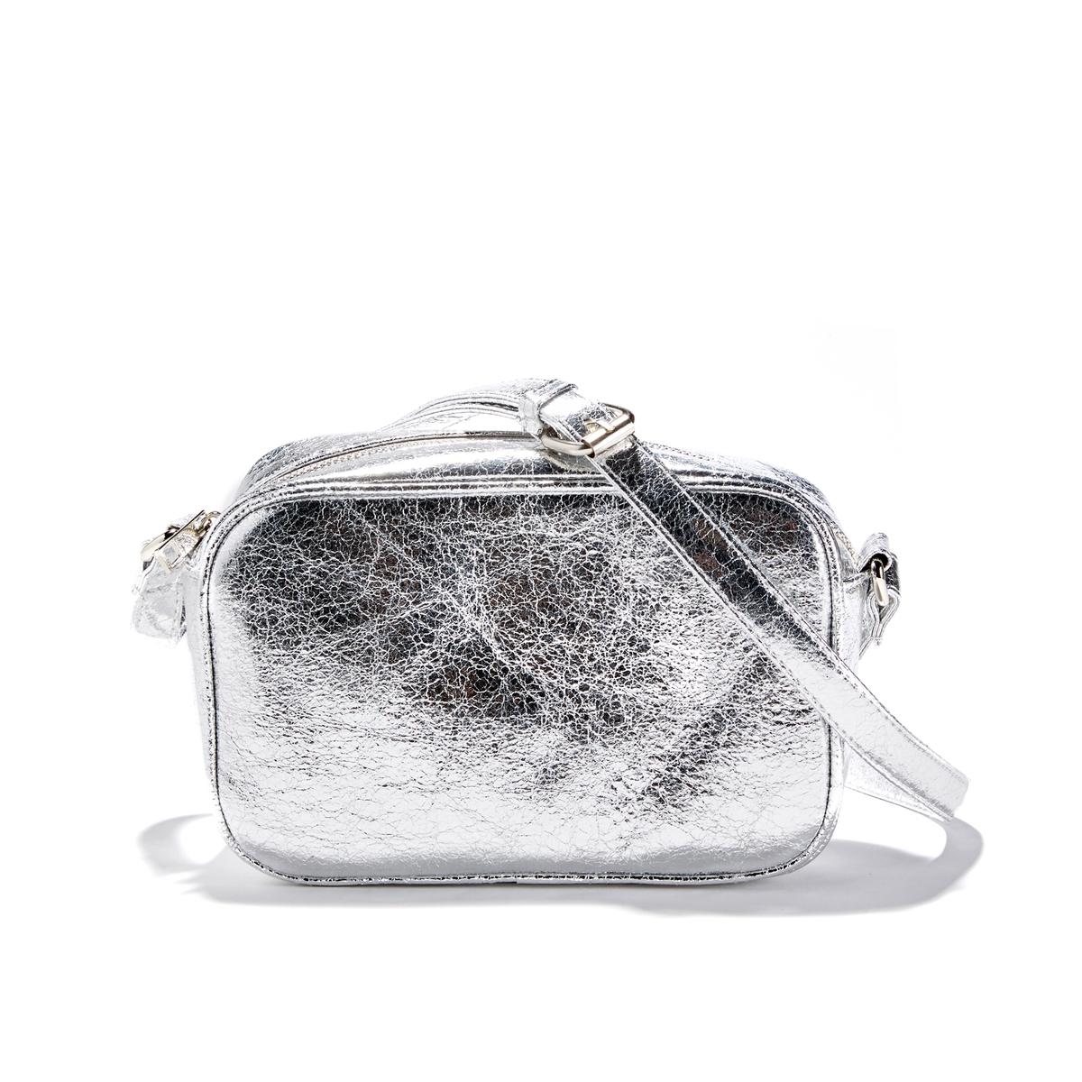 Сумка с ручкамиОписание:Красивая сумка с ручками серебристого цвета, компактная и женственная, добавляет изысканности нашим нарядам. Замечательная форма, модный стильСостав и описание : •  Внешний материал : 100% полиуретан •  Подкладка : 100% полиэстер •  Размер  : Ш22 x В14 x Г7 см •  Застежка : молния •  Внешние карманы : нет •  Внутренние карманы : 2 кармана для мобильного телефона + 1 карман на молнии •  Ремешок : регулируемый, несъемный •  Носить : через плечо<br><br>Цвет: золотистый,серебристый<br>Размер: единый размер.единый размер