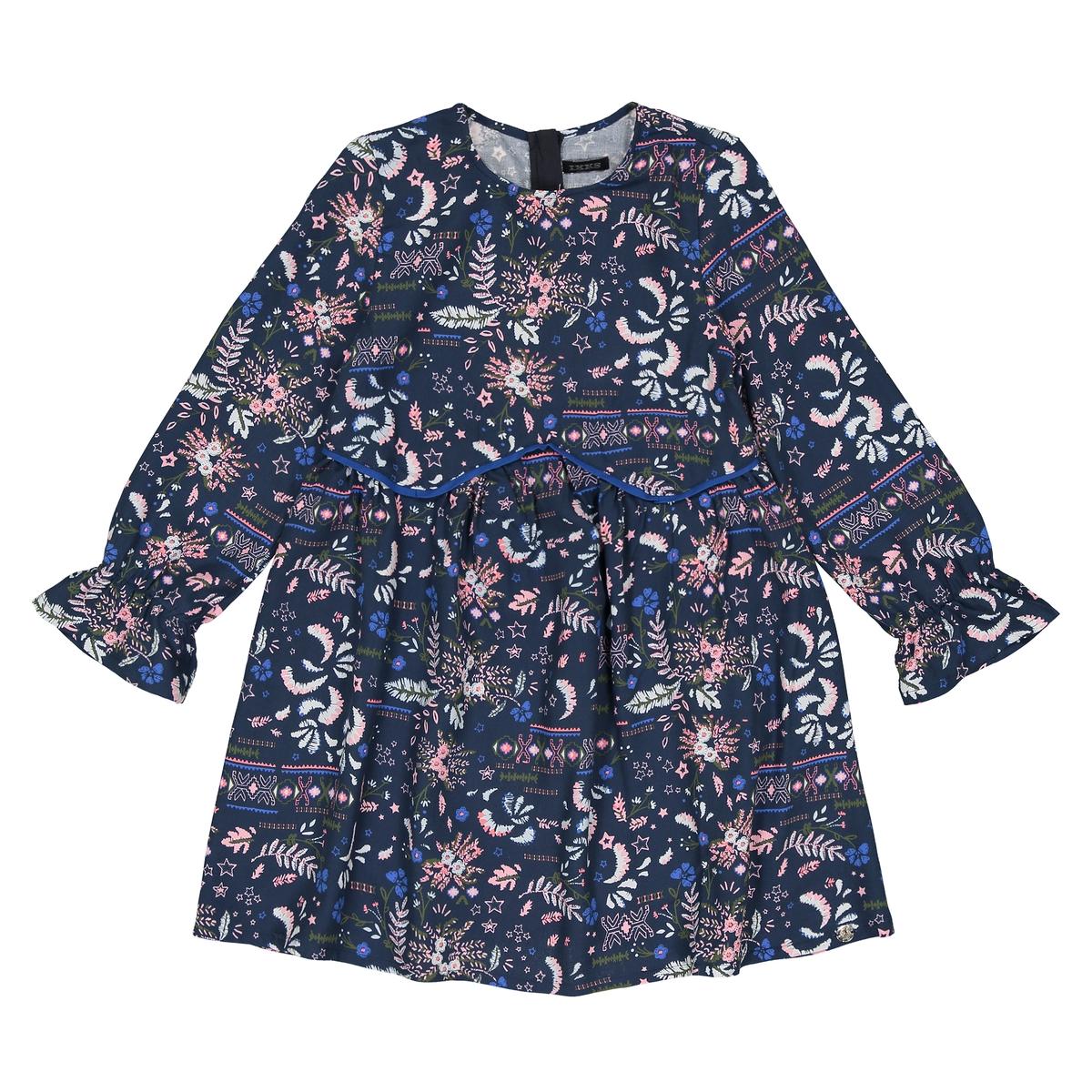 Платье с рисунком, 3-14 лет джинсы слим с тропическим рисунком 3 14 лет