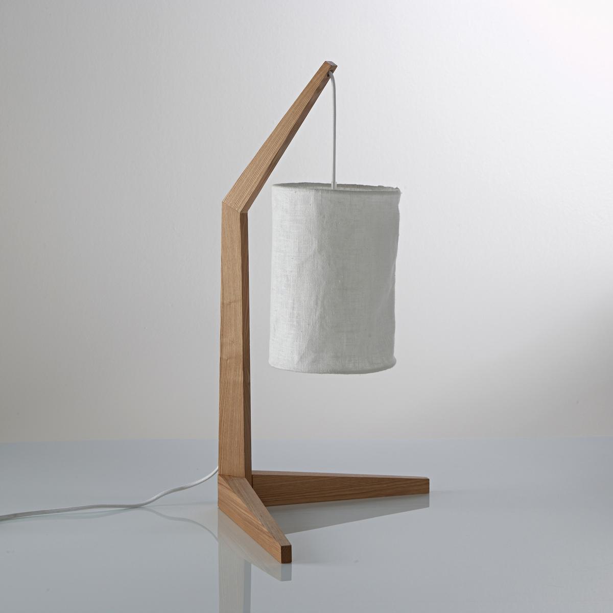 Лампа SettoЛампа, Setto. Оригинальный дизайн с необычной формой, низ из дерева ясеня и металла, на краю которого крепится абажур из льна  . Стильный и изысканный дизайн !Описание светильника  Setto  :Патрон E14 для лампочки макс 40W (не входит в комплект)  .Этот светильник совместим с лампочками    энергетического класса    : A,B,C,D ,EХарактеристики светильника  Setto  :Каркас из дерева ясеня, абажур из льняной белой ткани .Кабель из серого текстиля .Найдите нашу коллекцию светильников на сайте laredoute.ru    .Размер светильника  Setto  :Основание :Высота : 58 см  Глубина : 30 смАбажур :Высота : 22 смДиаметр: 16 см<br><br>Цвет: серо-бежевый