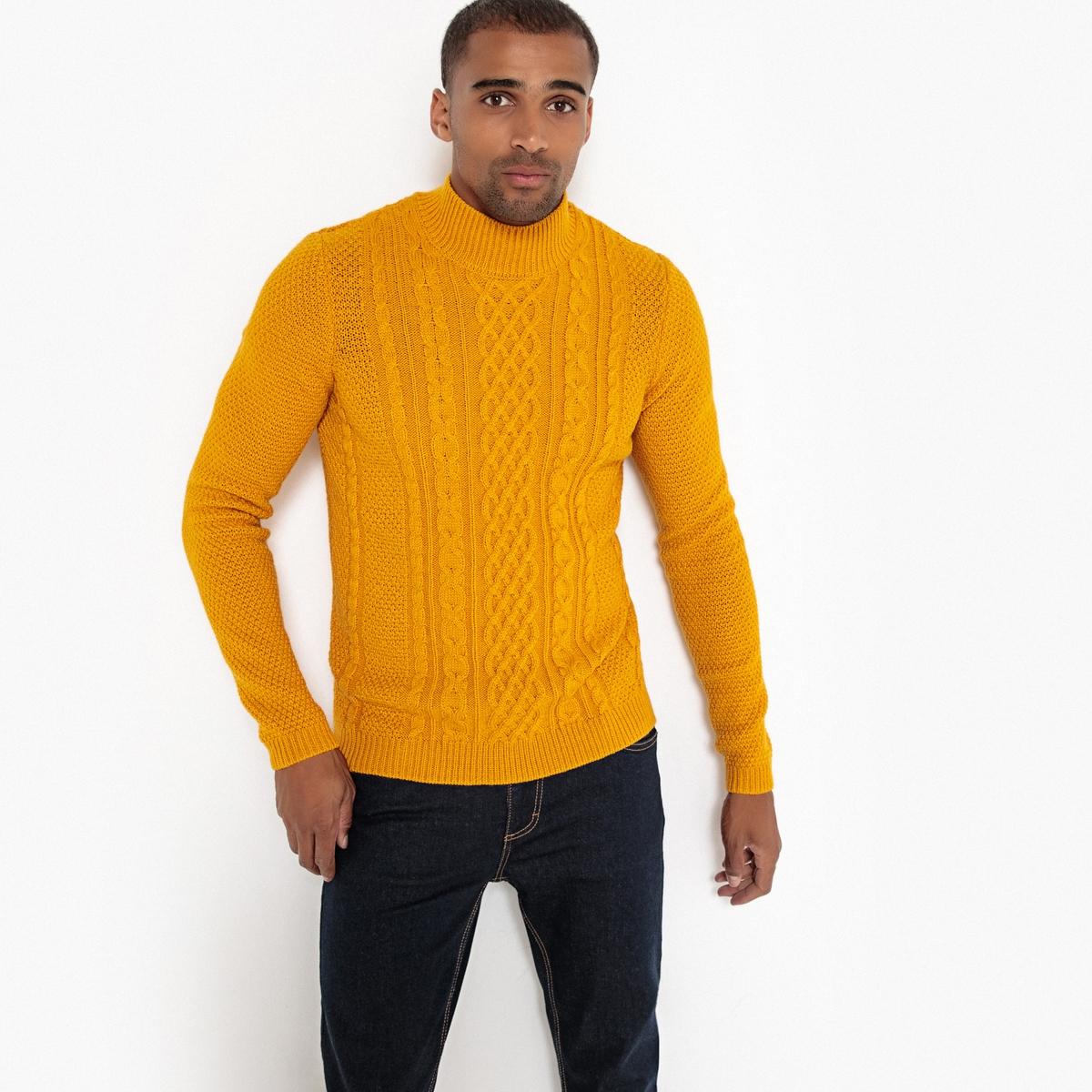 Пуловер с воротником-стойкой из плотного трикотажа La Redoute Collections