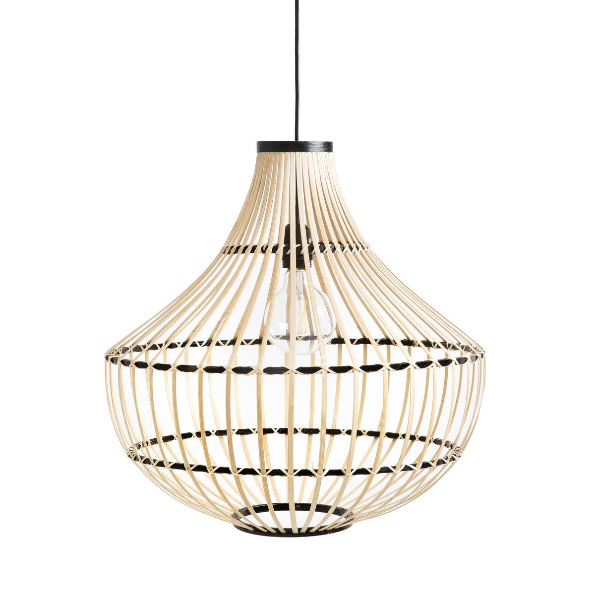 цена Светильник La Redoute Мз бамбука Ilga единый размер бежевый