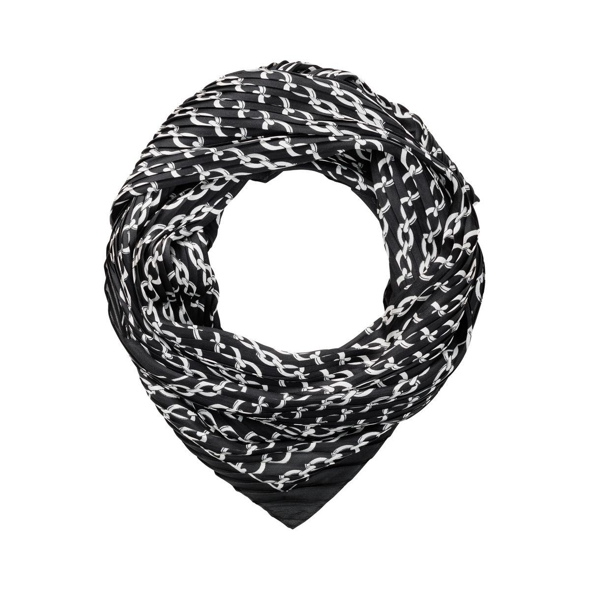 Foulard plissé à imprimé chaîne