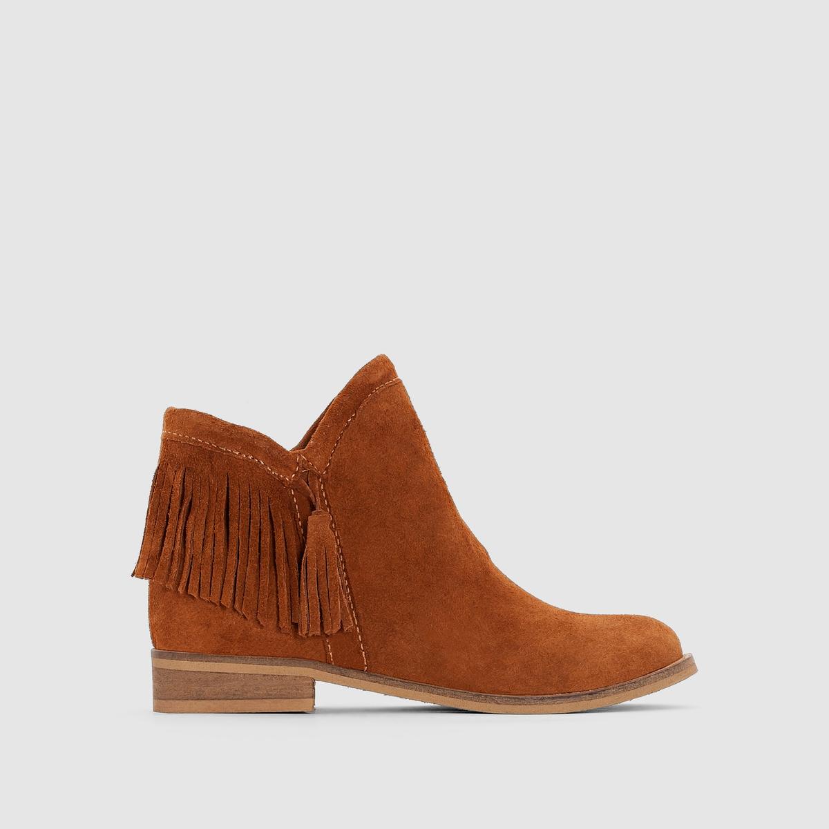 Ботинки из спилка, размеры 26-39
