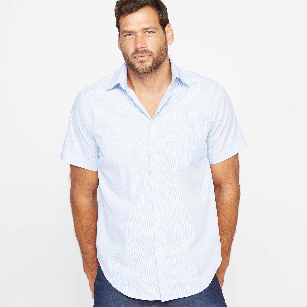 Рубашка, рост 1 и 2 (до 187 см)Рубашка из поплина, рост 1 и 2 (до 187 см).Удобный покрой.Воротник с уголками на пуговицах.Короткие рукава.1 нагрудный карман.2 складки на спине. Слегка закругленный низ.Эта мужская рубашка существует также на рост 3 (от 187 см).Материал : поплин из 100% хлопка.Рост 1 и 2  : Длина передней части от 80 до 87 см в зависимости от размера.Марка : CASTALUNA FOR MEN.Уход : Машинная стирка при 30 °C.<br><br>Цвет: в полоску белый/синий,наб. рисунок темно-синий,наб.рисунок/антрацит<br>Размер: 55/56.41/42.53/54.45/46.49/50.43/44