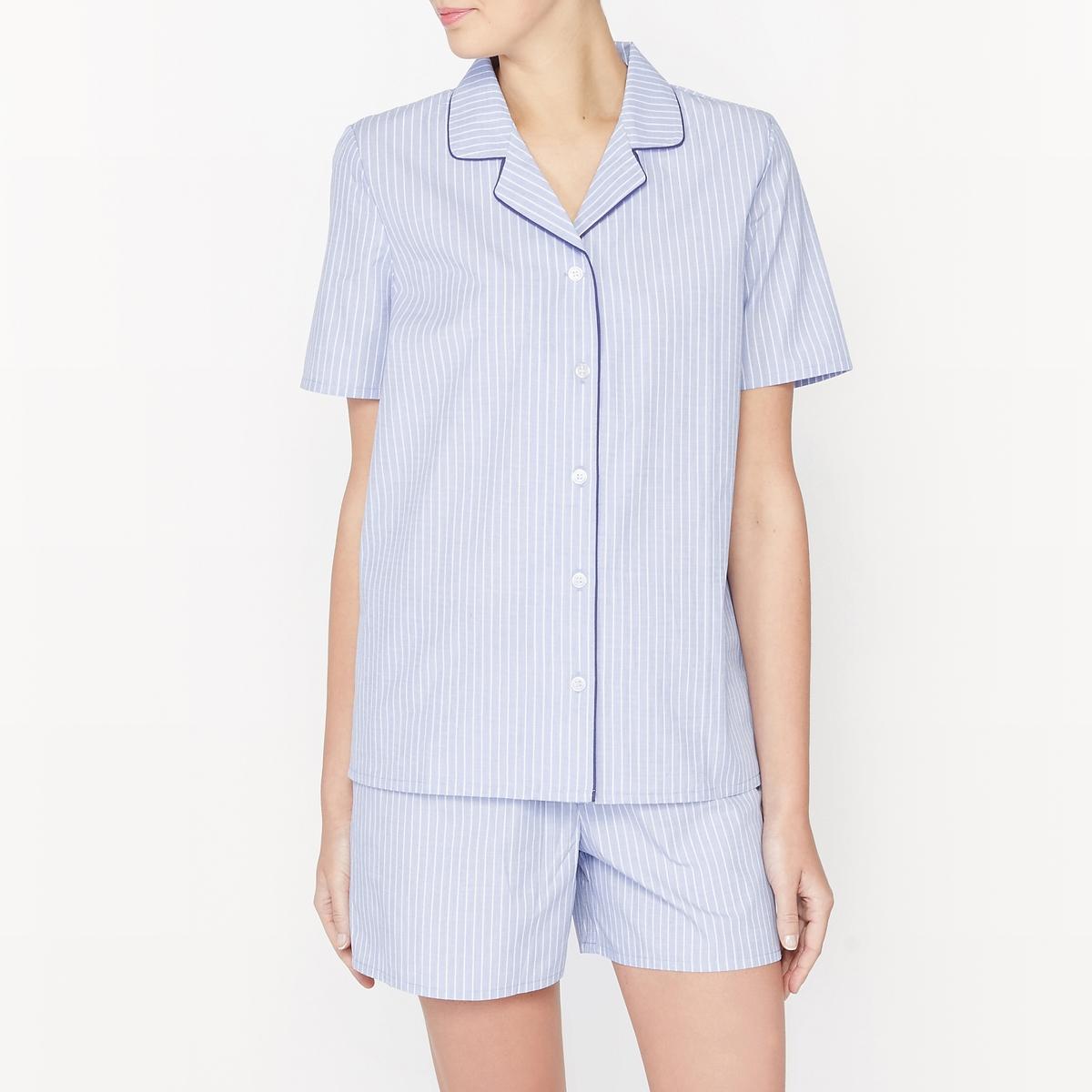 Пижама с шортами в полоску, 100% хлопок