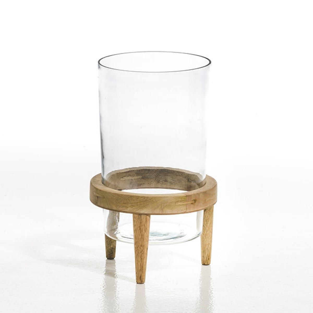 Террариум Bocage из стекла и мангового дерева, диаметр 20 смТеррариум состоит из резервуара из прозрачного стекла, установленного на основание из мангового дерева.Добавьте немного зелени в интерьер дома благодаря этому террариуму, который станет садом в миниатюре.Этот террариум одновременно является предметом декора и экосистемой в миниатюре.Оригинальный террариум позволяет подчеркнуть растения, растущие внутри.Размеры :Размер 1 : диаметр 20 x высота 40 смРазмер 2 : диаметр 25,5 x высота 60 см<br><br>Цвет: серо-бежевый,черный