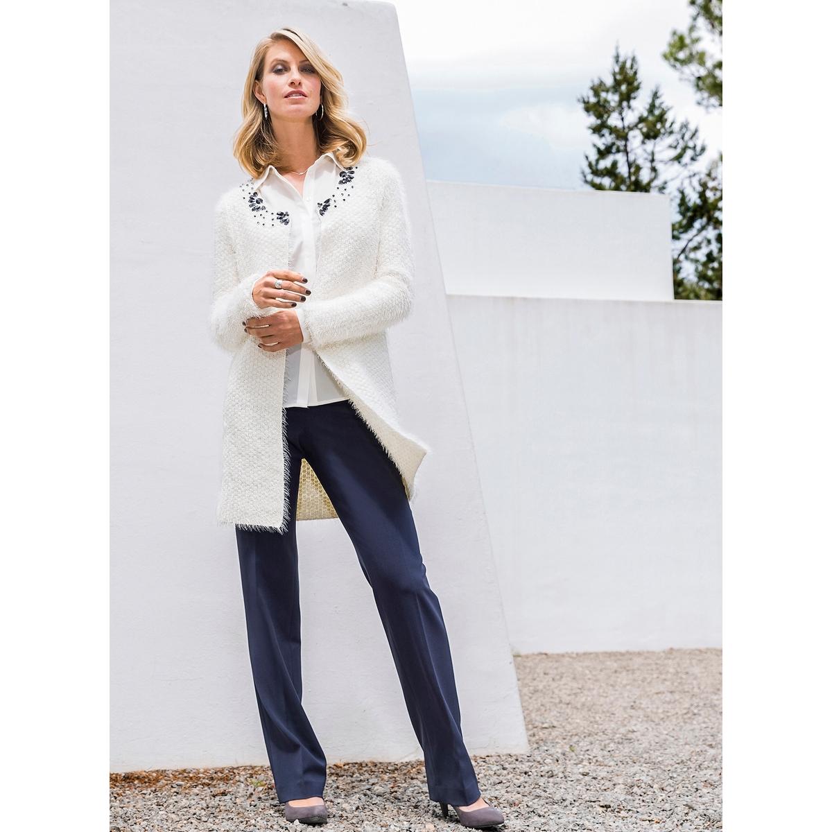 Imagen adicional de producto de Pantalón urbano recto de poliviscosa de elastán - Anne weyburn