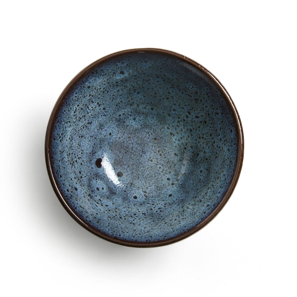 Комплект из чайных чашек La Redoute Из керамики покрытой глазурью Pesgira единый размер синий
