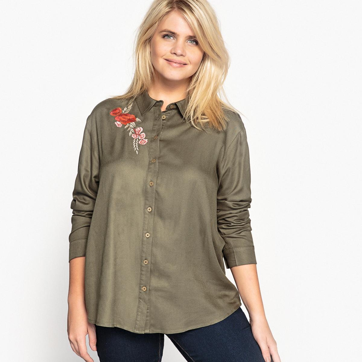 Рубашка с вышивкой и длинными рукавами цена 2017