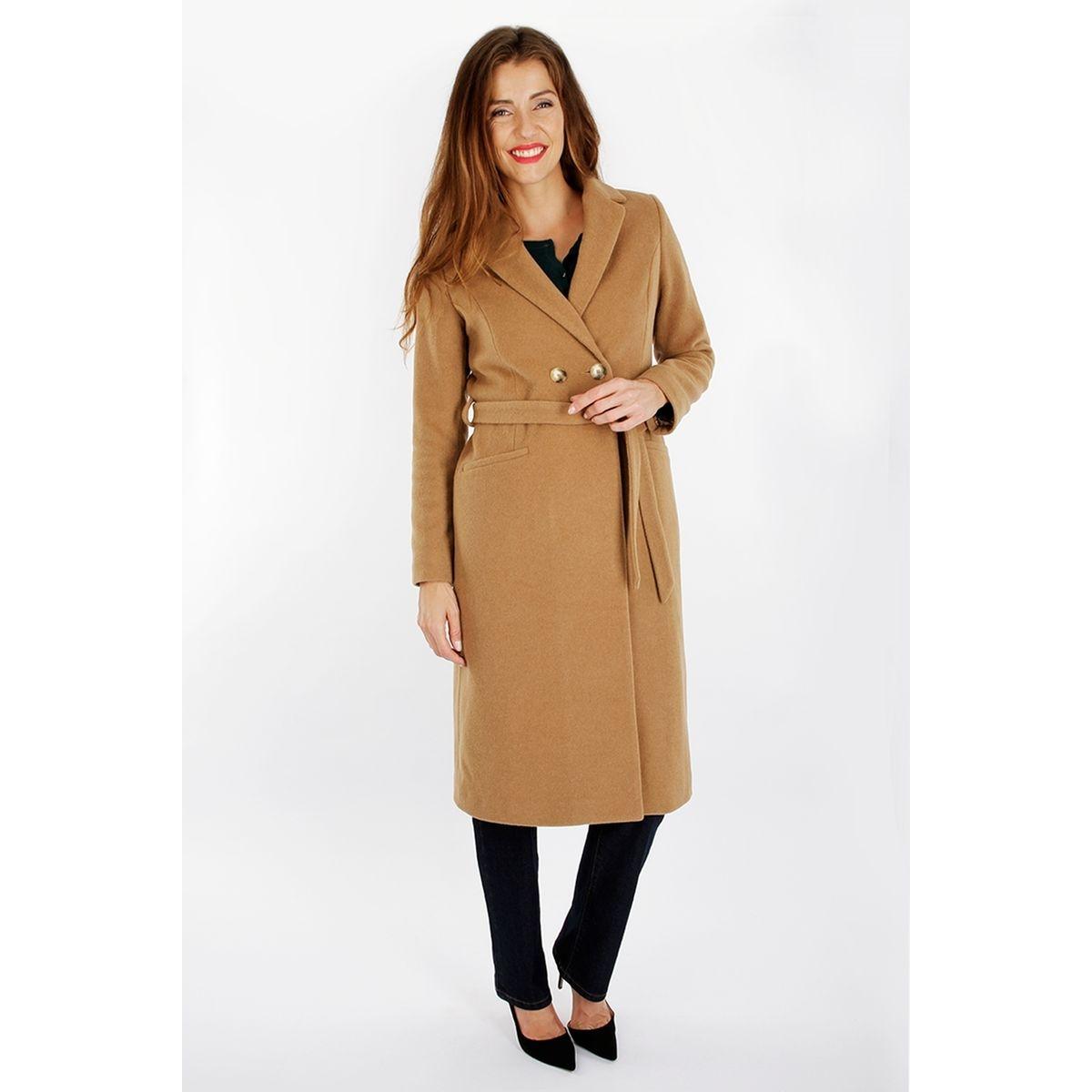 Manteau long drap de laine