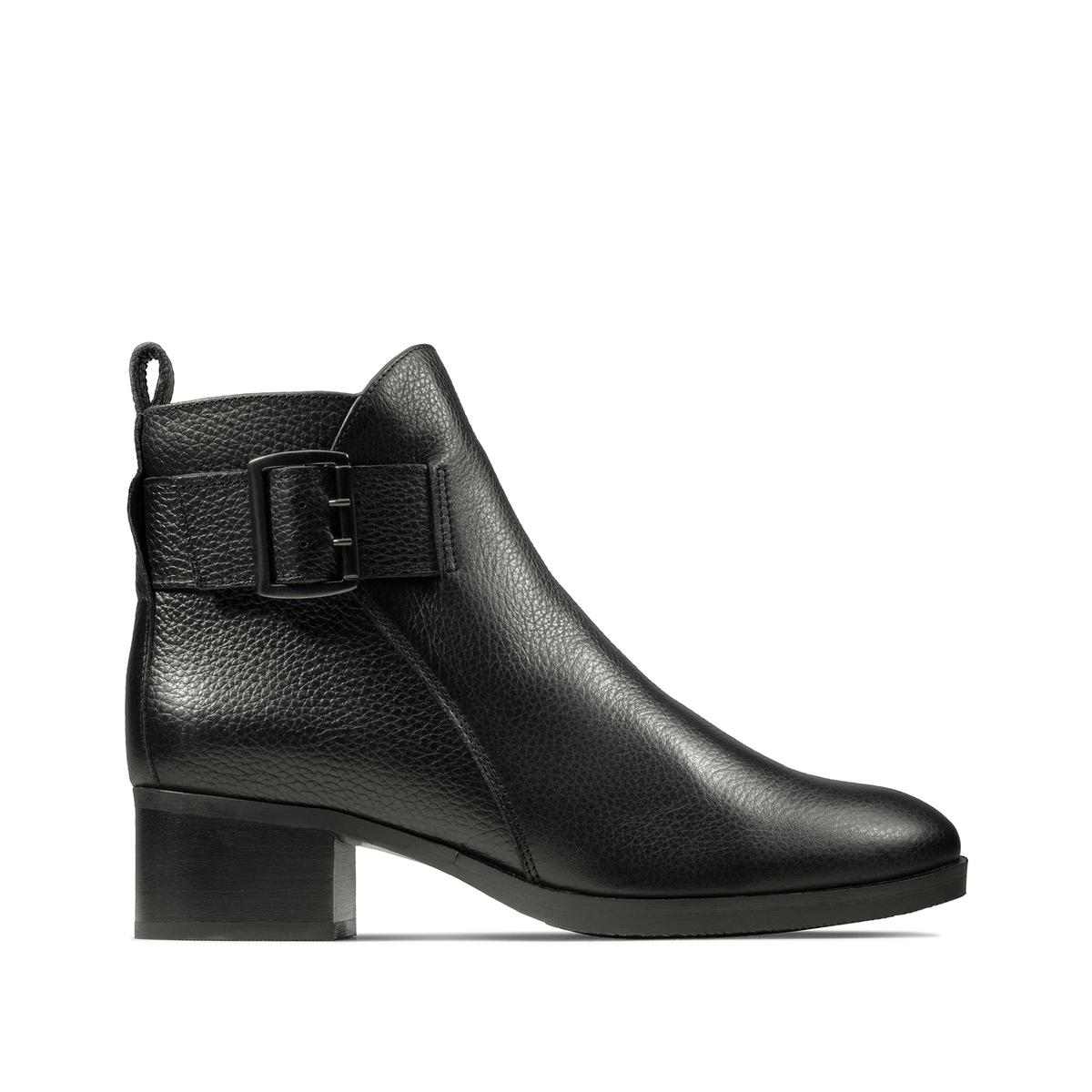 Ботинки La Redoute Кожаные на каблуке Mila Charm 40 черный lanvin кожаные туфли mila