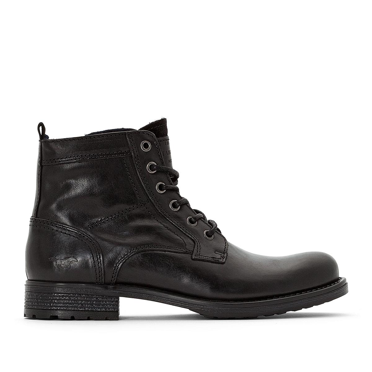 Ботинки кожаные на шнуровке цены онлайн