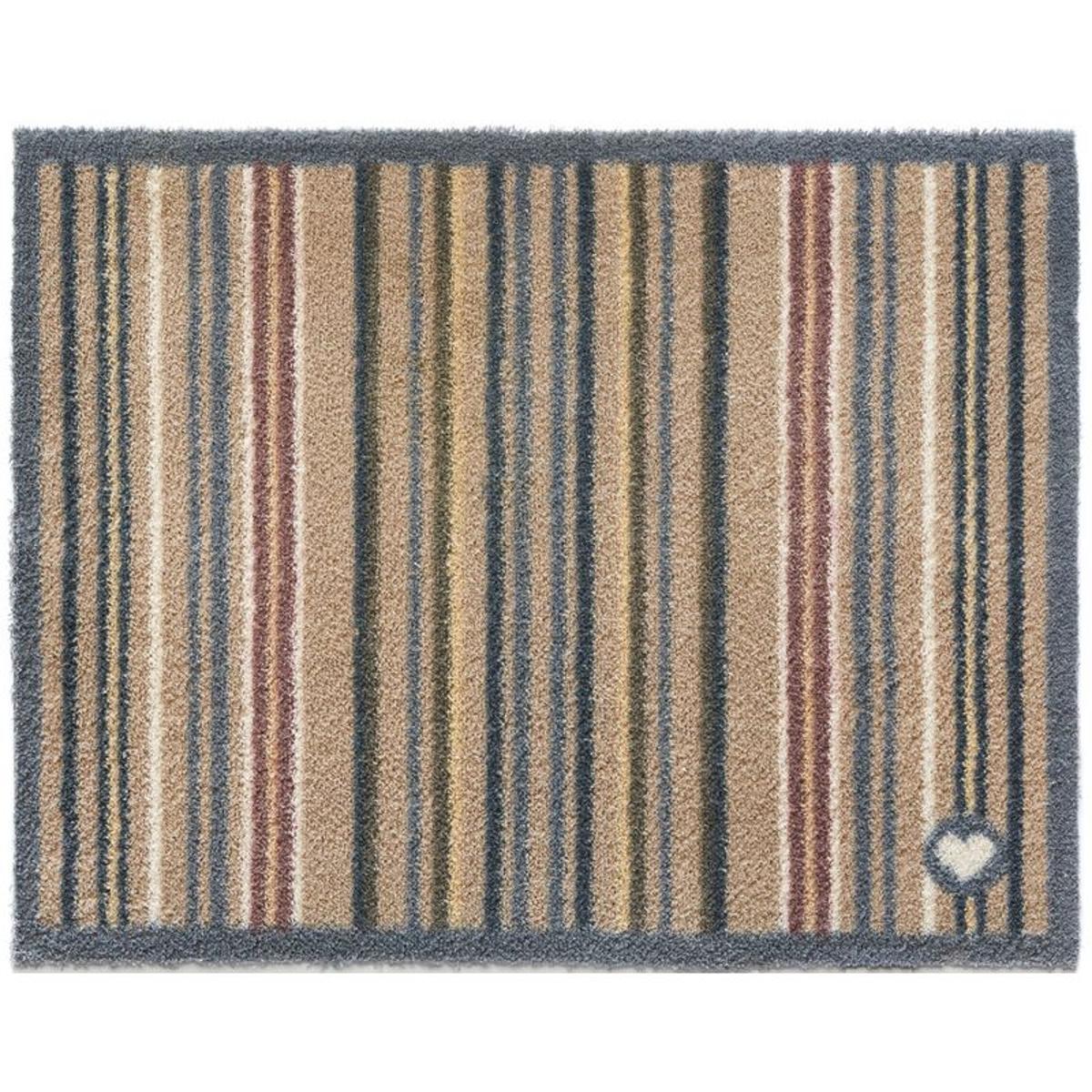 Tapis en fibres naturelles à rayures 65x150 cm