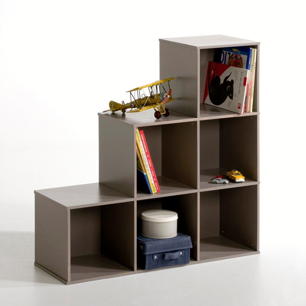 Модуль для хранения с 6 нишами, FenomenМодуль для хранения с 6 нишами. Модуль для хранения с 6 нишами Fenomen выполнен в виде практичной, компактной и красивой лестницы. Можно использовать отдельно для хранения книг, можно дополнить цветными корзинами Fenomen, которые вы найдете на сайте laredoute.ru. Характеристики модуля для хранения Fenomen :Каркас из лакированного МДФ (нитроцеллюлоза), верх: лакированный полиуретанОтделка белого или серо-коричневого цвета.Для модуля для хранения Fenomen предусмотрена самостоятельная сборкаВсю коллекцию Fenomen вы можете найти на сайте laredoute.ruРазмеры модуля для хранения Fenomen :Общие размеры: Ширина : 99 см Высота : 34 см Глубина : 99 см :Ш.30 x В.30 x Г.32 см<br><br>Цвет: серо-коричневый каштан<br>Размер: единый размер