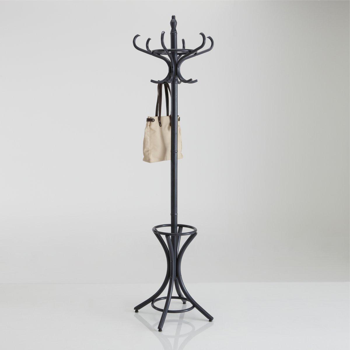 Вешалка-стойка AdjanНезаменимая вешалка-стойка Adjan в современном стиле: классическая вешалка самых модных цветов, Вам обязательно приглянётся какая-нибудь из них .Описание вешалки-стойки Adjan :- 1 венец с 6 изогнутыми крючками.- 4 опорные ножки с горизонтальным обручем сверху и снизу, служат подставкой для зонтов.Вешалка-стойка Adjan продаётся в разобранном виде.Характеристики вешалки-стойки Adjan :- Натуральный массив гевеи с нитроцеллюлозной лаковой отделкойРазмеры вешалки-стойки Adjan :- ? 38 x В 182 см.Размеры и вес упаковки :- 1 коробка72,5 x 38 x 8 см.5 кг..<br><br>Цвет: антрацит