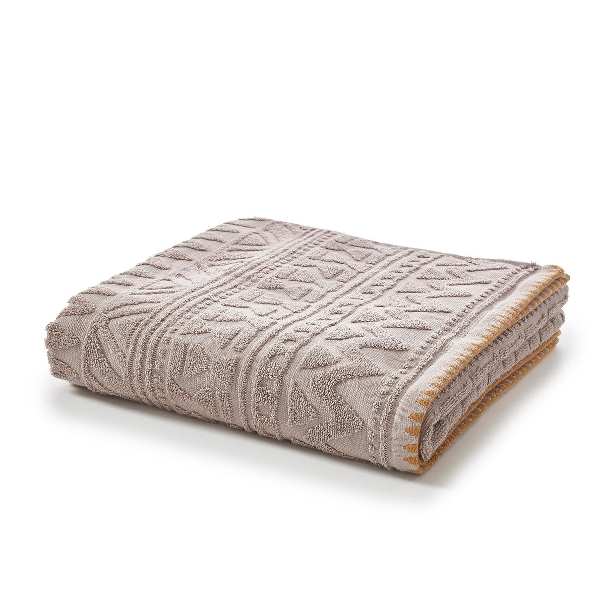 Полотенце банное большое из жаккардовой махровой ткани, LimaХарактеристики большого банного полотенца Lima :Жаккардовая махровая ткань, 100% хлопок, 500 г/м?.Отделка кантом контрастного цвета.Машинная стирка при 60 °С.Всю коллекцию текстиля для ванной Lima вы можете найти на сайте laredoute.ruРазмеры большого банного полотенца :100 x 150 см<br><br>Цвет: белый,серо-коричневый