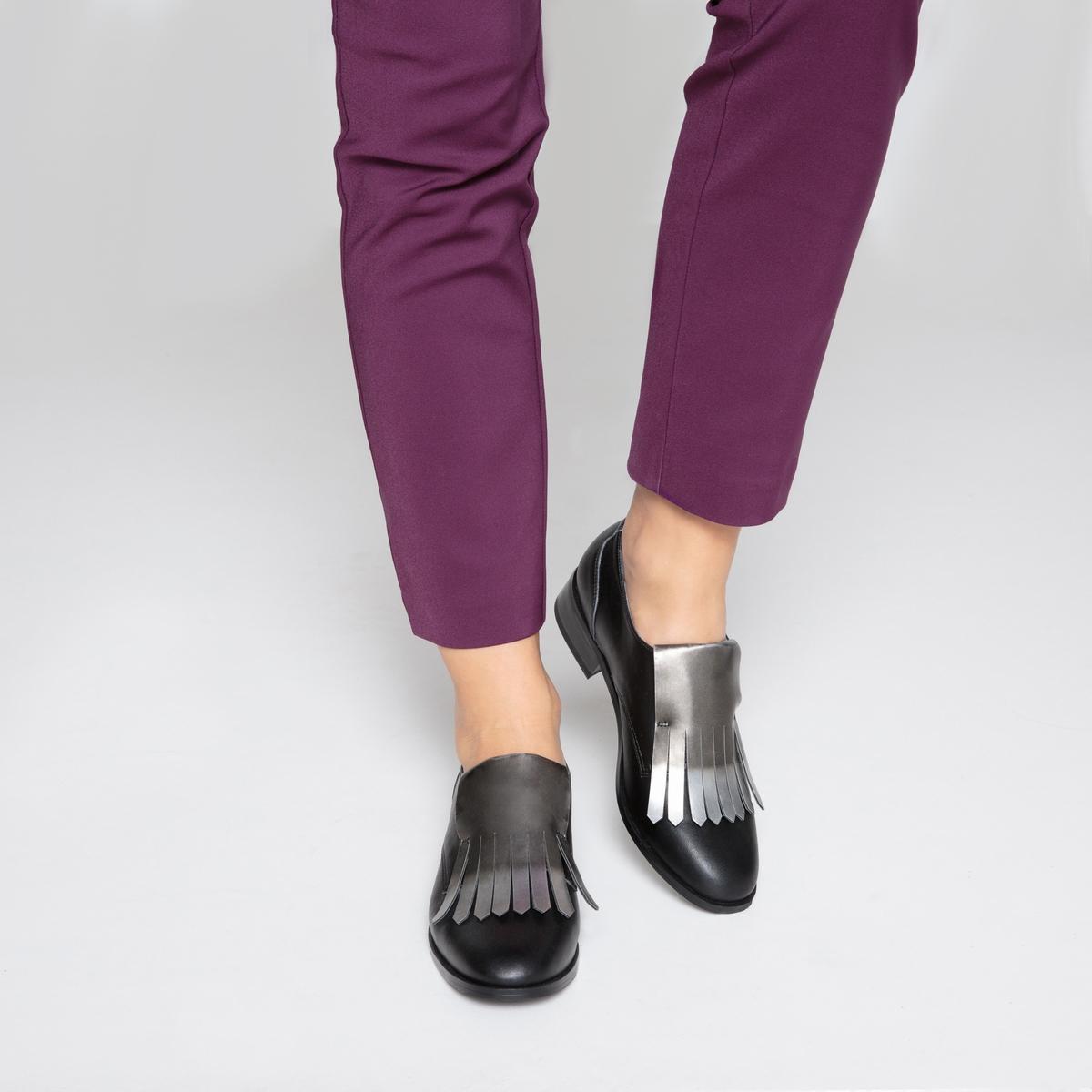 Ботинки-дерби с блестящей мексиканской планкой