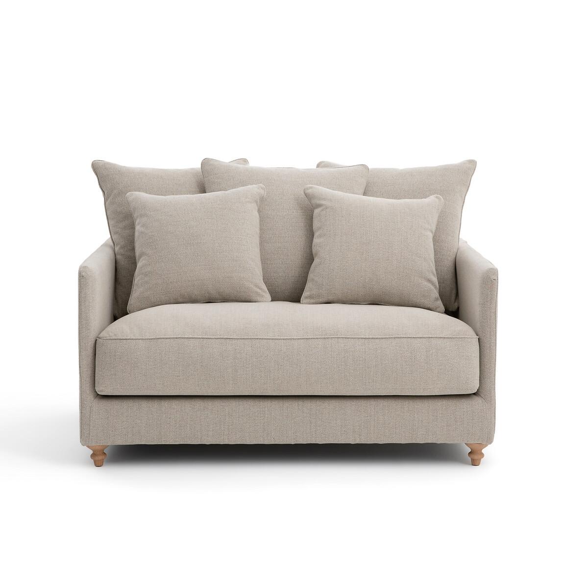 Canapé droit 2 places Tissu Contemporain Confort