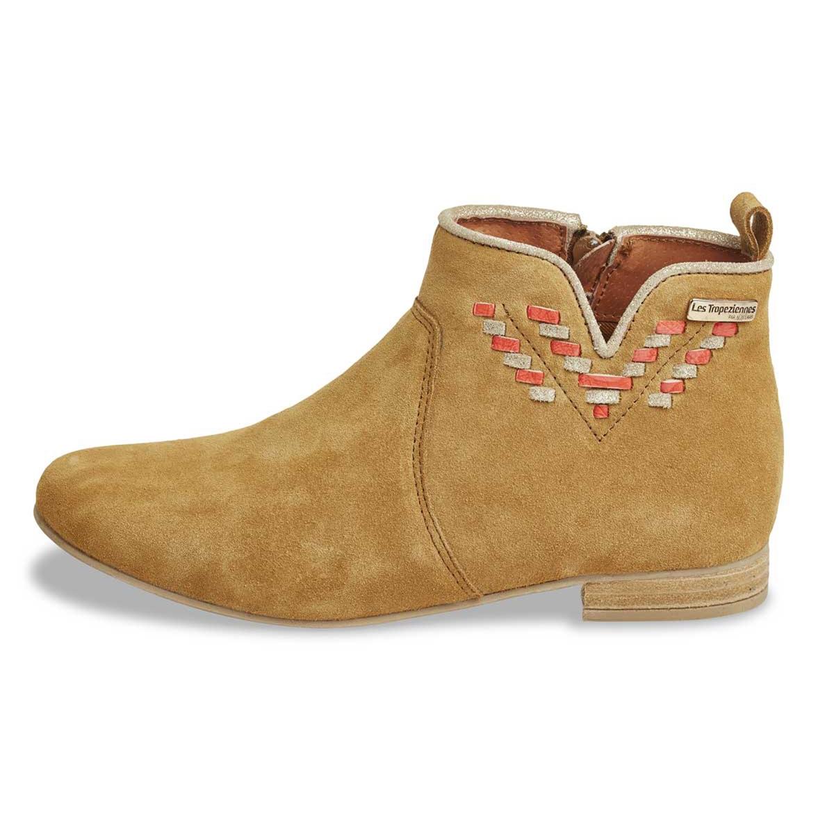Ботильоны из спилка (яловичная кожа) ботинки из спилка