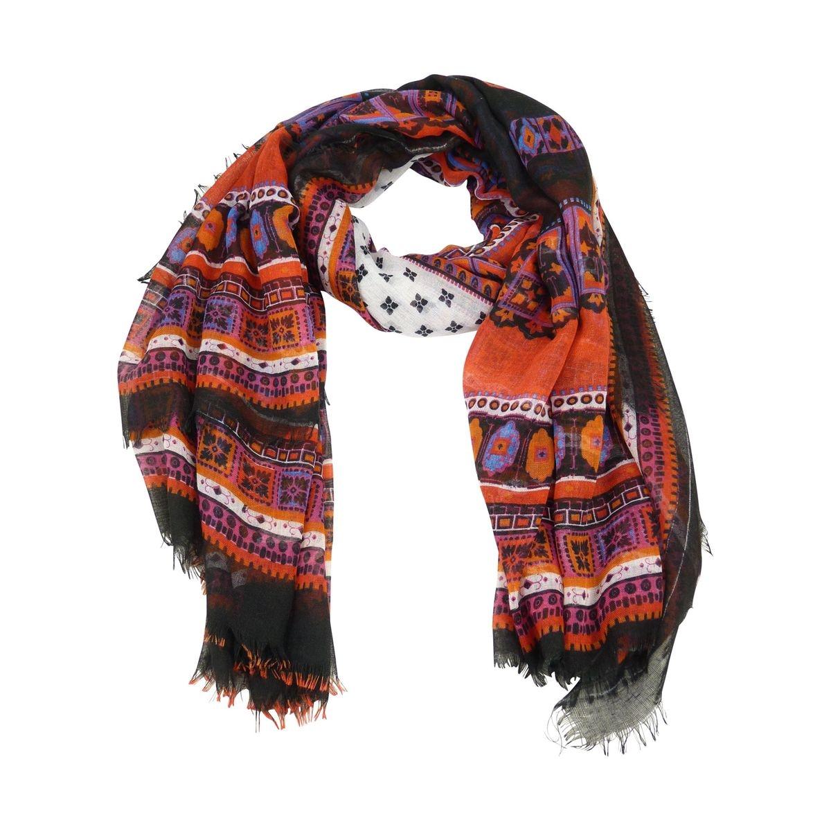 Foulard echarpe imprimé ethnique femme