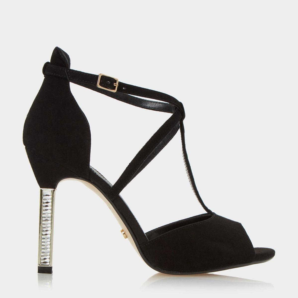 Sandales peep toe à talons ornées de bijoux fantaisie - MELODEE