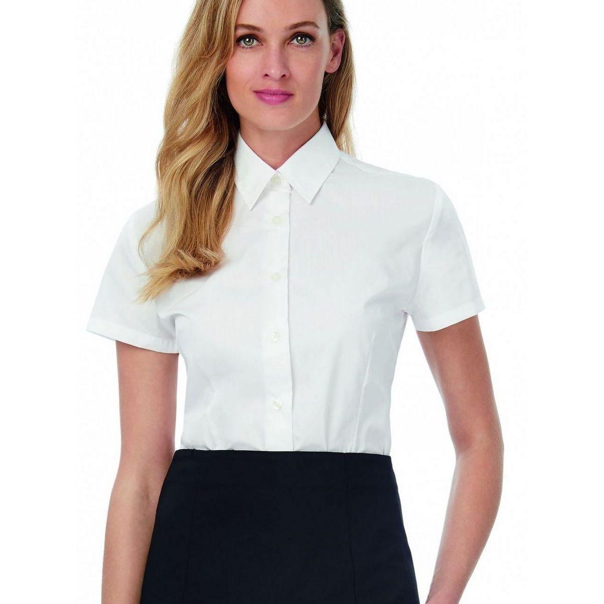 Lot de 2 chemisettes popeline polyester coton