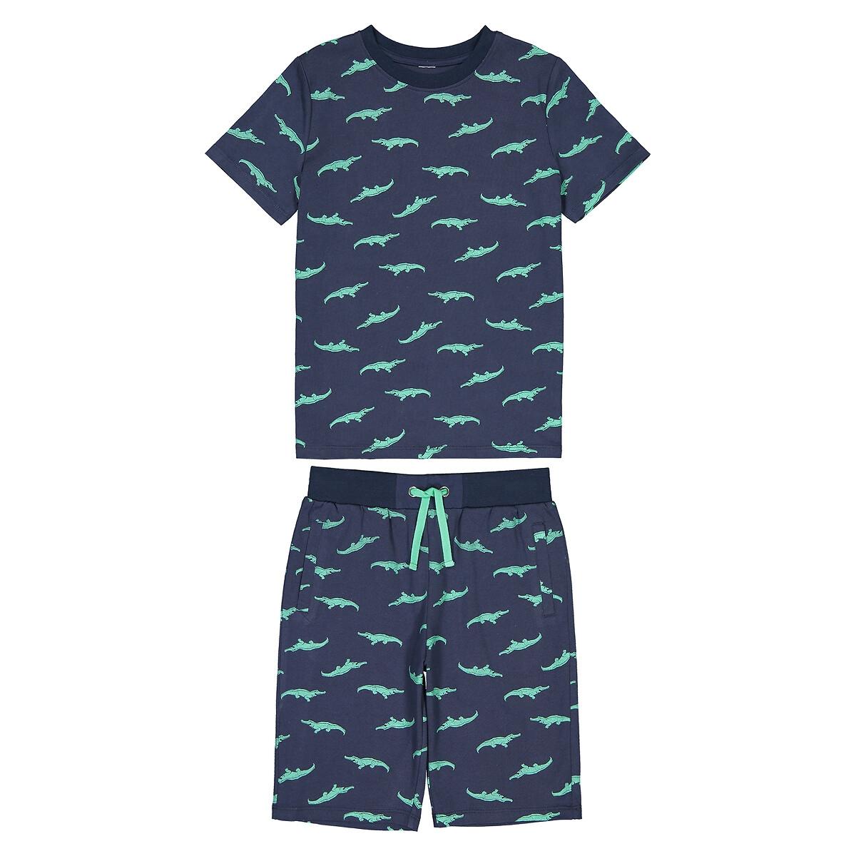 Пижама La Redoute С фосфоресцентным принтом 8 лет - 126 см другие юбка la redoute расклешенная с принтом 8 лет 126 см другие