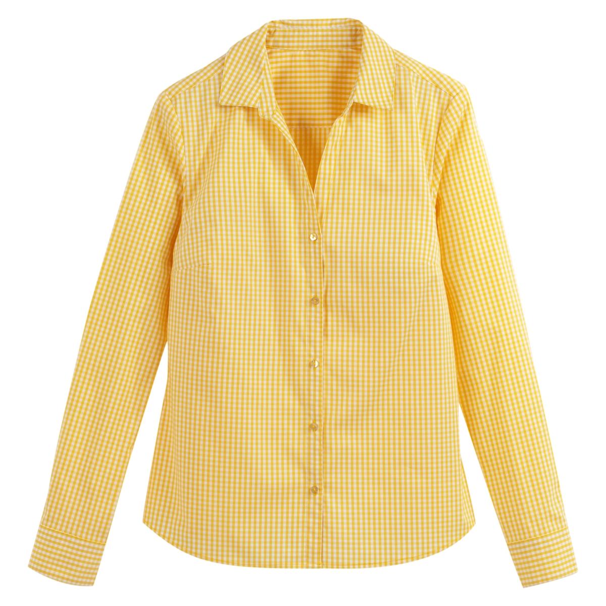 Camisa con estampado vichy
