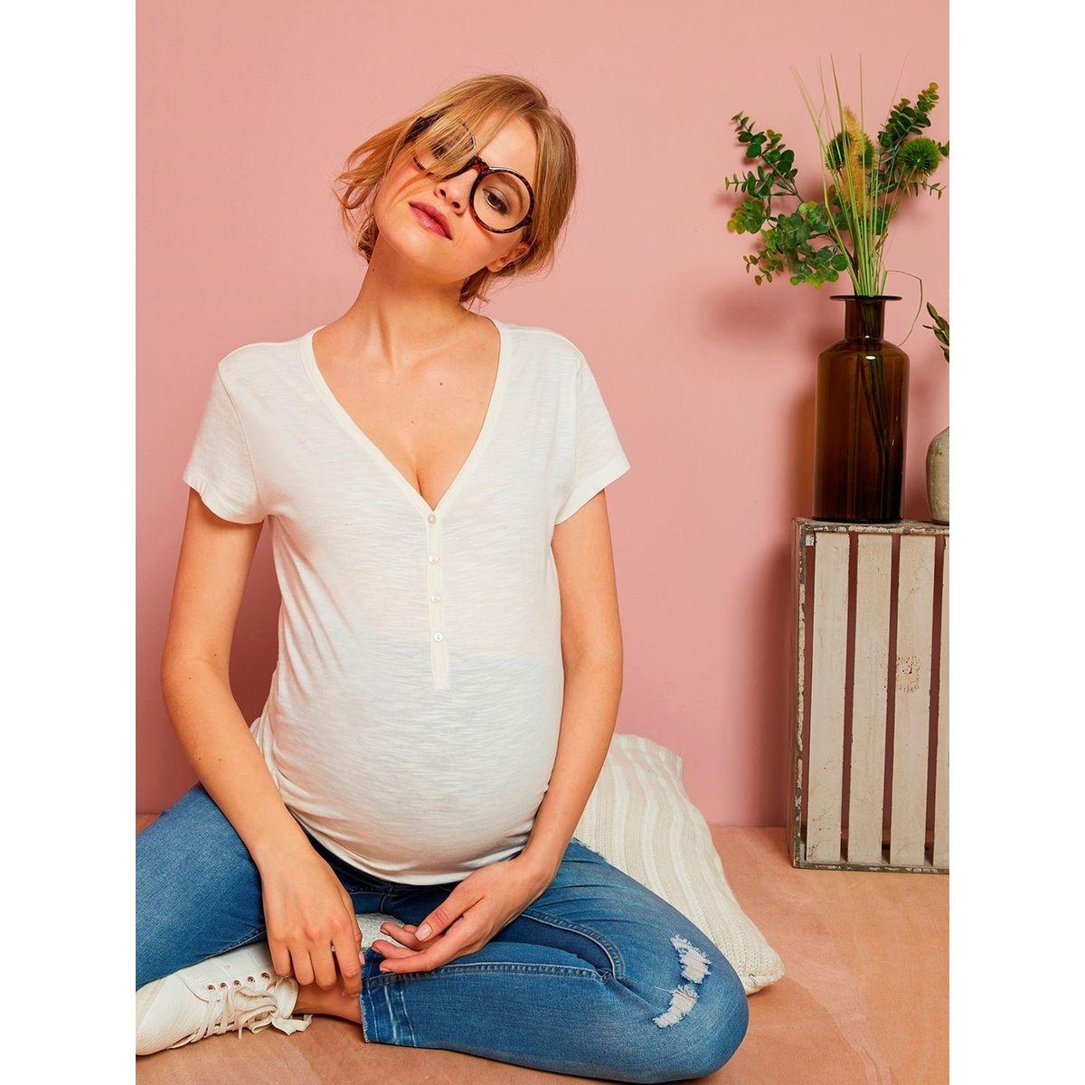 T-shirt tunisien grossesse et allaitement manches courtes