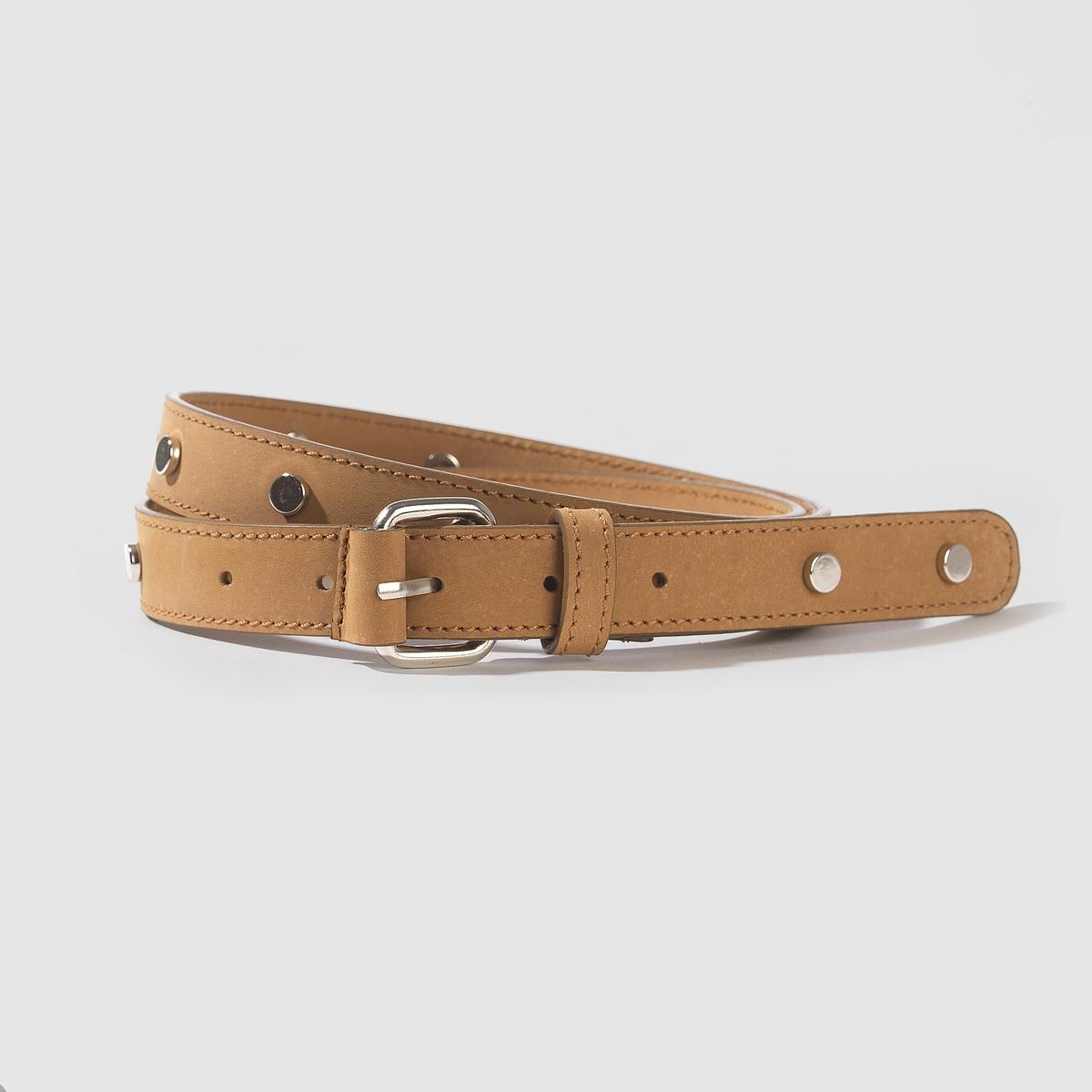 Ремень кожаныйКожаный ременьМарка: Carven X La Redoute.Материал: буйволовая кожа.Застежка: на металлическую пряжку.Ширина: .8,5 смРазмер: 75 см, 85 см, 95 см.<br><br>Цвет: бежевый,белый,черный<br>Размер: 95 см