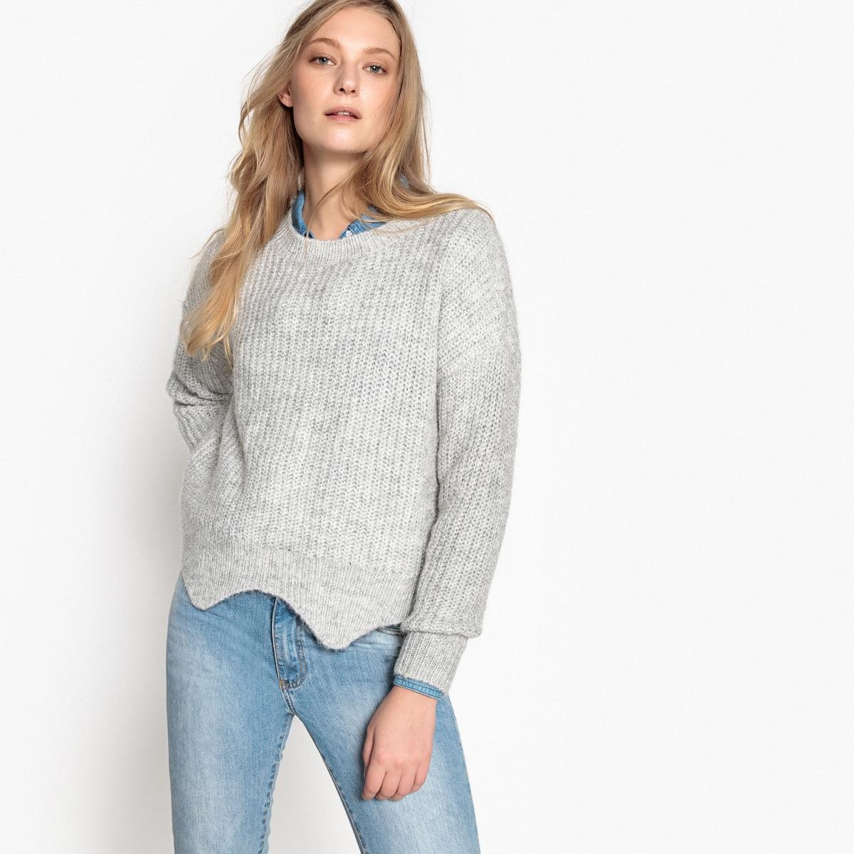 где купить Пуловер с круглым вырезом из тонкого трикотажа по лучшей цене
