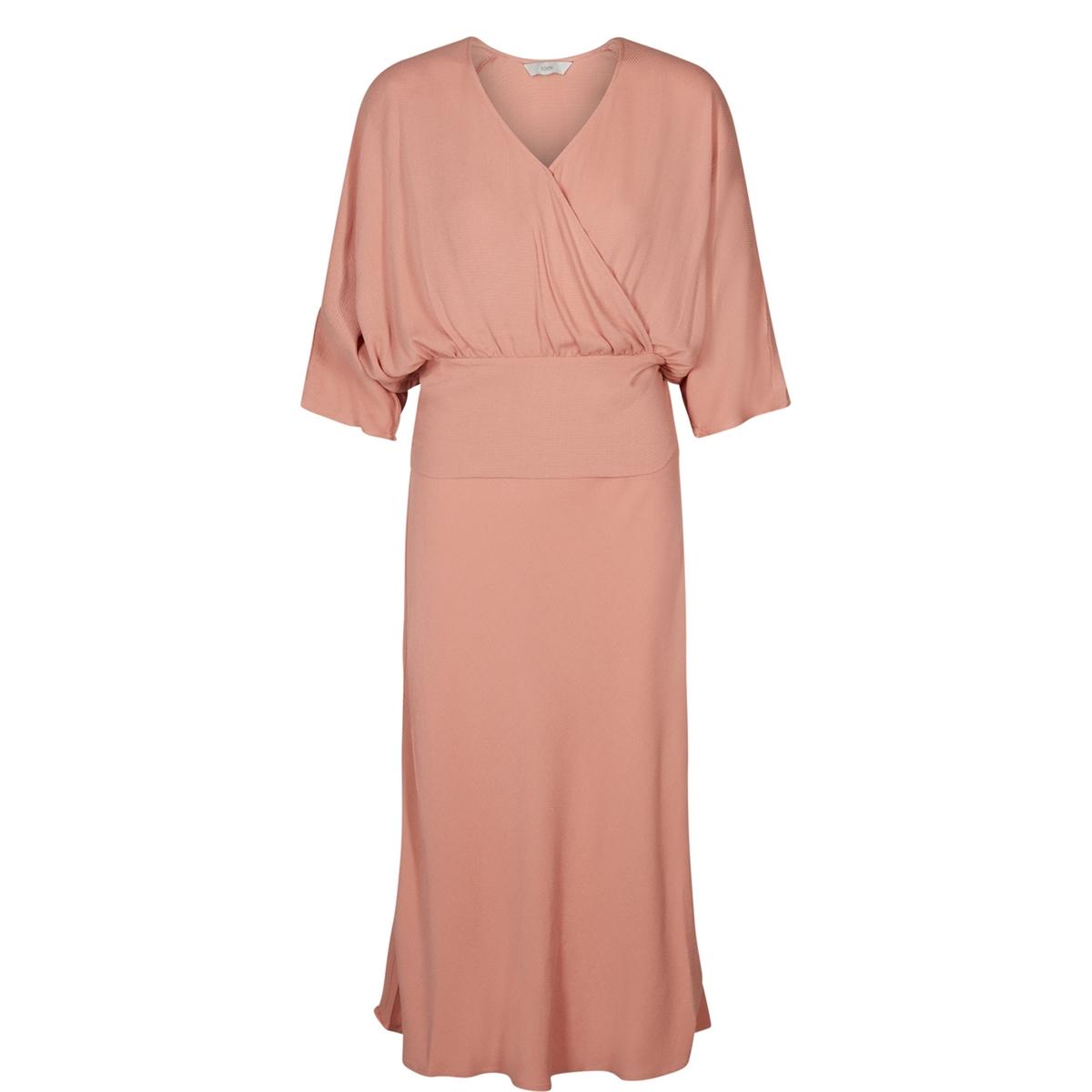 купить Платье длинное расклешенное однотонное с рукавами 3/4 по цене 6019.3 рублей